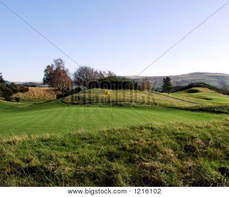 Schottland Golf grün