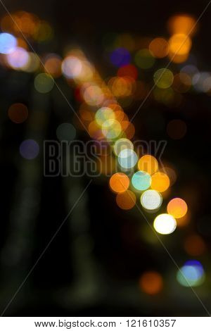 Bokeh Of Cityscape At Night