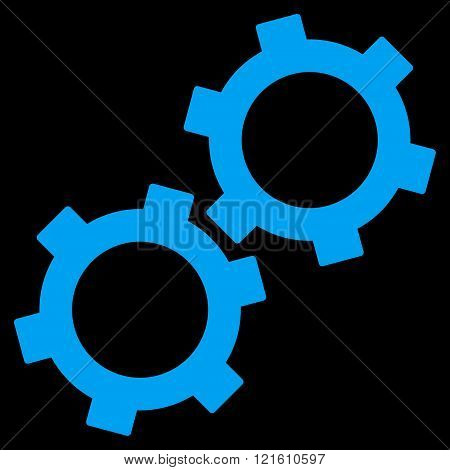 Gears Flat Vector Symbol