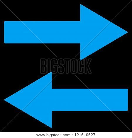 Horizontal Flip Arrows Flat Vector Symbol