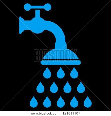 Shower Tap Flat Vector Symbol