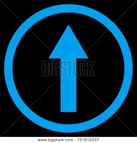 Up Rounded Arrow Flat Vector Symbol