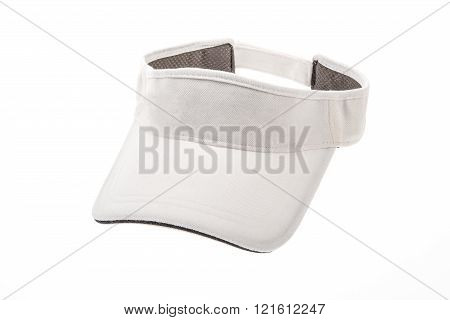 Men's white golf visors