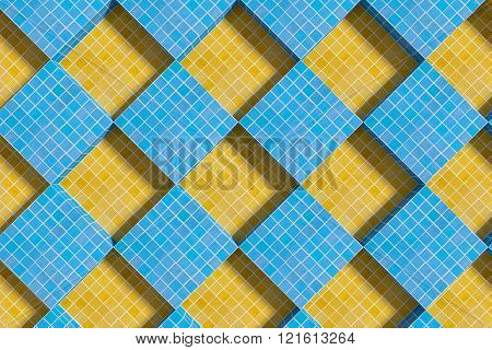 View On Blue And Yellow Ceramic Cubes