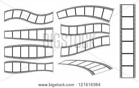 collection vector film strip vector illustration .