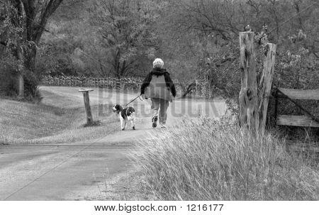 Walking The Dog Bw