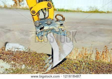 Rusty Bulldozer Scoop