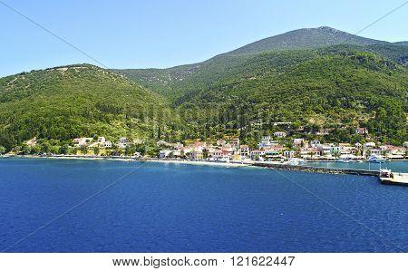 landscape of Fiskardo at Kefalonia Greece