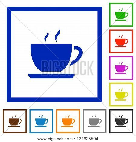 Coffee Framed Flat Icons