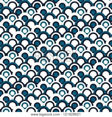 Simple geometric Japanese seamles pattern. Traditional. Background to copy without any seams.Vector