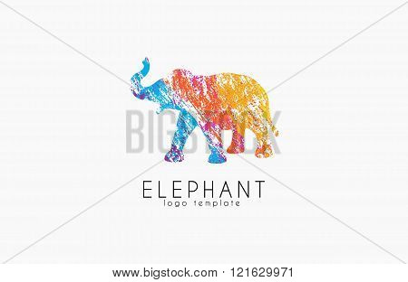 Elephant logo design. Africa logo. Colorful logo. Creative animal logo