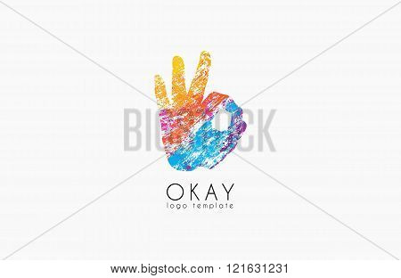 Okay logo. Ok logo design. Creative logo design. Colorful logo.