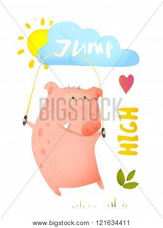 Pig Jumping Rope for Children