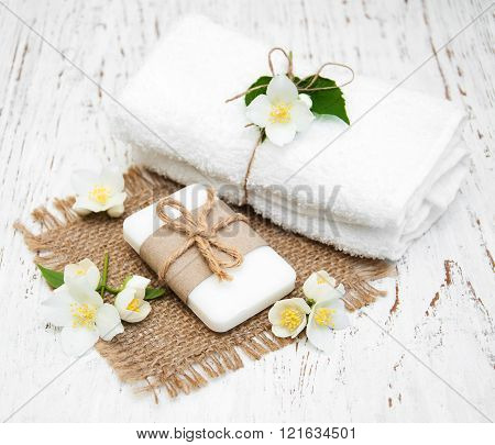 Jasmin Flowers And Soap