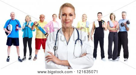Young medical doctor woman.