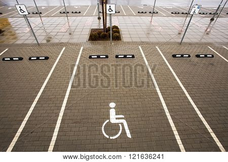 Parking Space For Disabled Person