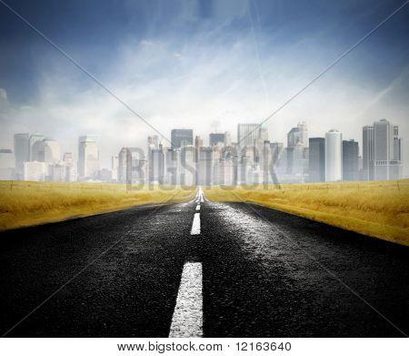 Camino a una gran ciudad