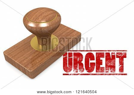 Urgent Wooded Seal Stamp