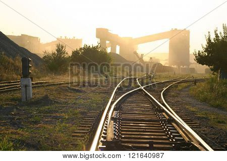 industry landscape with railroad