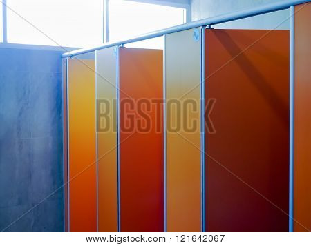 toilet door pattern interior and sunlight