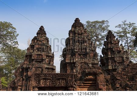 Religious Stone Carvings And Temple Wall Decorations Asia