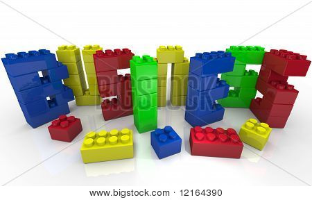 Build Your Business - Toy Blocks Form Word