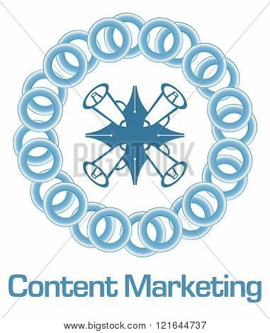 Content Marketing Blue Rings Circular