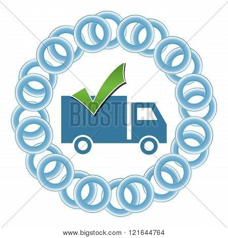 Shipping Blue Rings Circular