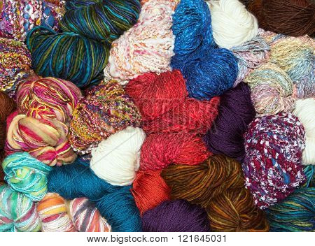 Many Balls Of Muted Natural Wool