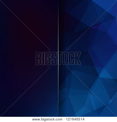 Abstract Polygonal Vector Background. Dark Blue Geometric Vector Illustration. Creative Design Templ