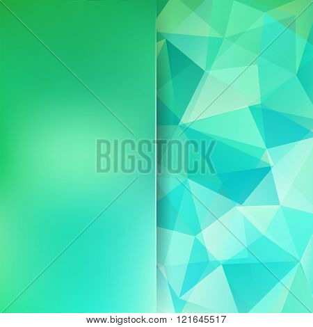 Abstract Polygonal Vector Background. Green Geometric Vector Illustration. Creative Design Template.