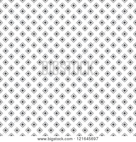 Seamless pattern. Classical simple texture with small rhombuses. Regularly repeating elegant geometric rhombic tiles. Vector wrapping paper surface