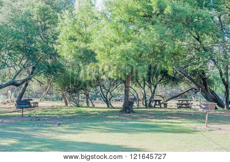 Picnic area in the Mountain Zebra National Park
