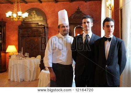 Personal de un restaurante de lujo