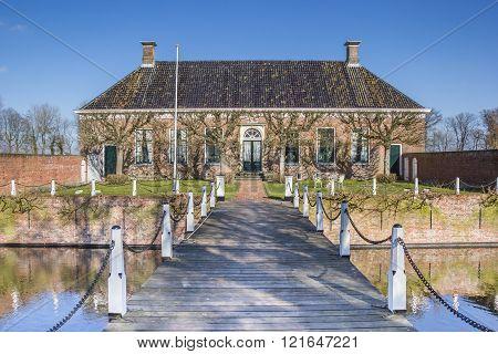 Old dutch mansion Verhildersum near Leens