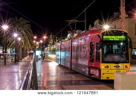 Trams At Moseley Square, Glenelg