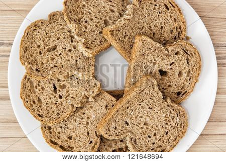 Sliced Wheaten Bread In Circle Shape, Food Theme