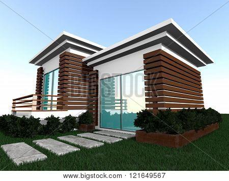 Illustration Of Home Model