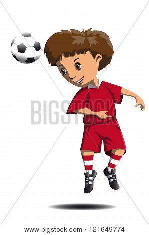 Footballer Beats The Ball Head