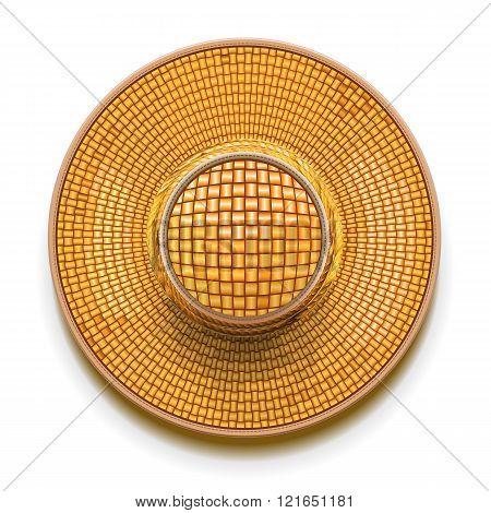 Vector Straw Hat