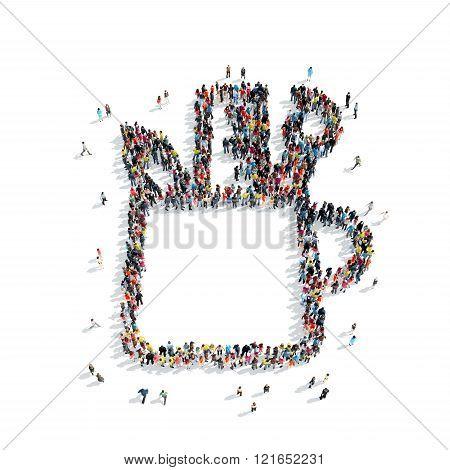 people  stationery set icon