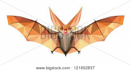 Night Bat in Polygonal Style