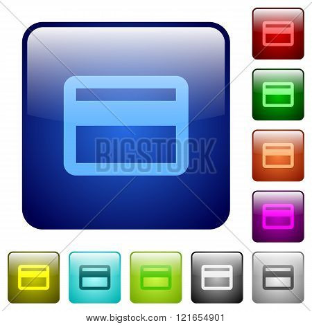 Color Credit Card Square Buttons