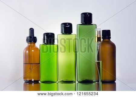 Cosmetic Bottle Background