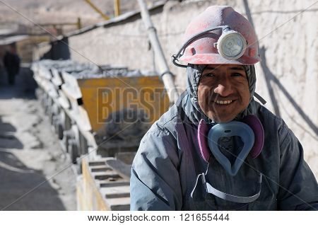 Miners From South America At The Work In The Mine