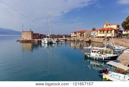 Nafpaktos town harbor, Greece