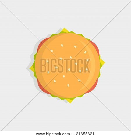 Burger Top View