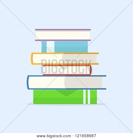 Stack Of Book Vector Illustration