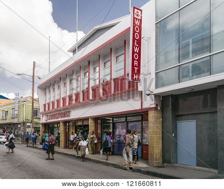 Woolworth Department Store In Bridgetown, Barbados