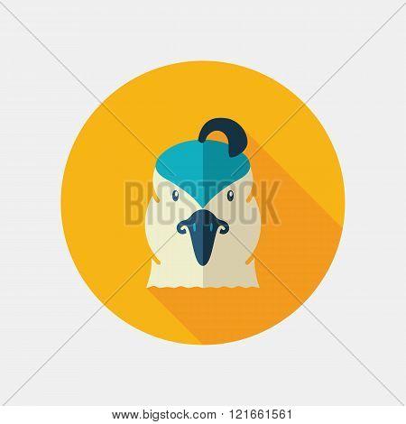 Quail Flat Icon. Animal Head Vector Symbol